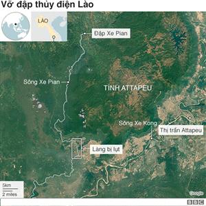 Cục pin châu Á vỡ đập thủy điện chết người
